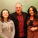 Family life: Gerry Armstrong with wife Deborah and daughter Marianna