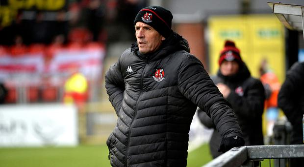 Remaining positive: Stephen Baxter's side are bidding to bank their first league win since early October