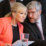 Sinn Fein's vice-president Michelle O'Neill with colleague John O'Dowd