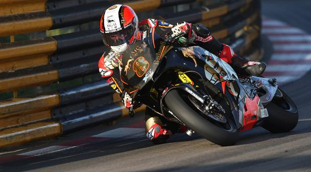 Short work: Michael Rutter on his way to victory in Macau