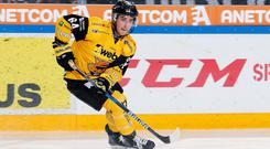 New Belfast Giants centre David Goodwin in action for Finnish side SaiPa