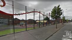 The play area on North Queen Street. Credit: Google