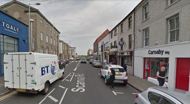 The man was attacked with a knife in Scarva Street