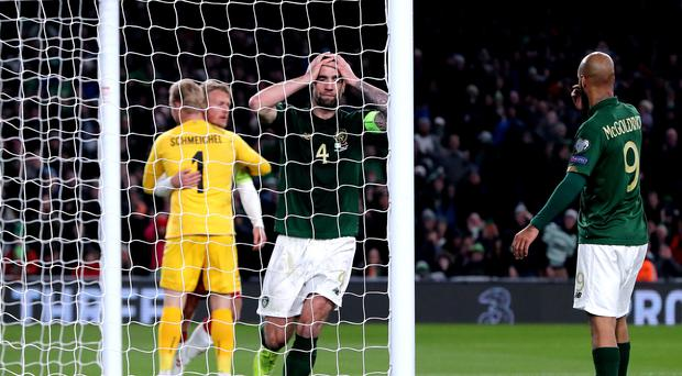 Shane Duffy has vowed that the Republic of Ireland will qualify for Euro 2020 the hard way (Niall Carson/PA)