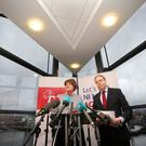 Arlene Foster and Nigel Dodds at the DUP document policy launch, at W5 in Belfast. Picture by Jonathan Porter/PressEye