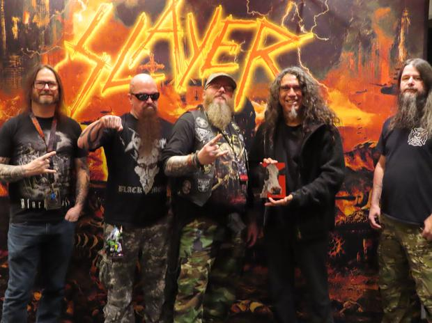 Paul with Slayer in New York