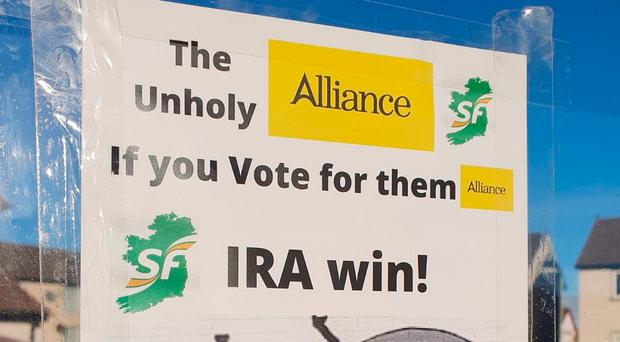 Stephen Farry has criticised the people behind leaflets linking his party to the IRA