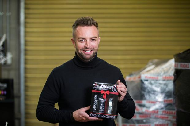 Entrepreneur Brendan McDowell who started BPerfect Cosmetics, pictured at his warehouse in Belfast. Picture by Liam McBurney/RAZORPIX