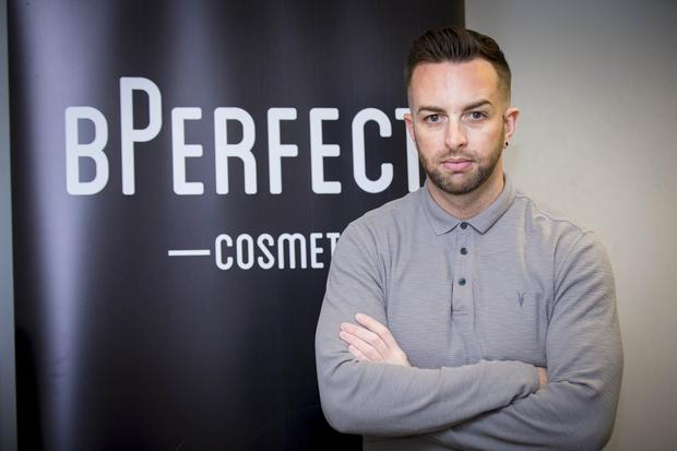 Brendan McDowell - aged 34 from Annalong who started B Perfect Cosmetics on March 23rd 2017 (Photo - Kevin Scott / Belfast Telegraph )