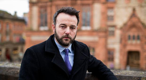 SDLP leader Colum Eastwood in his native Derry. Photo credit: Liam McBurney/PA Wire