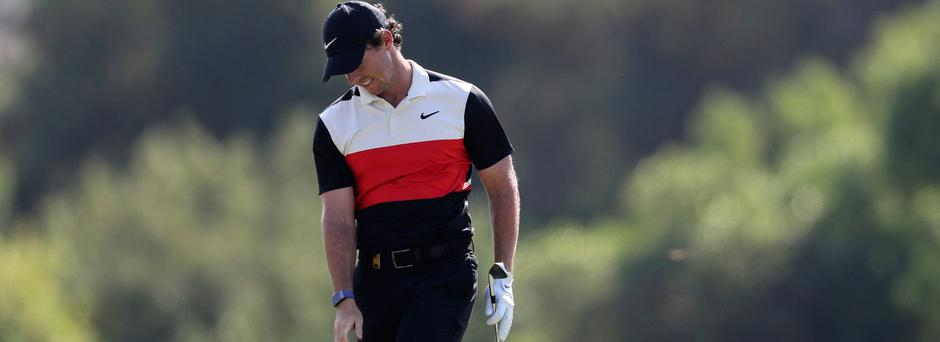 Rory McIlroy during the second round of the DP World Tour Championship in Dubai (AP Photo/Kamran Jebreili)