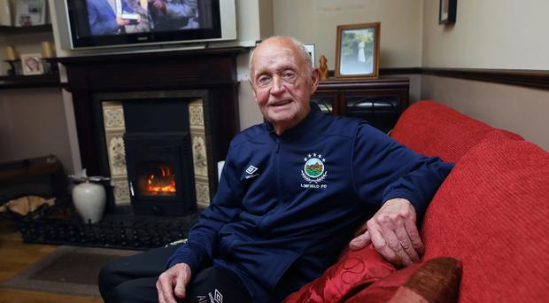 Former Linfield worker Andy Kerr relaxing at home in Portglenone. Photo by Peter Morrison