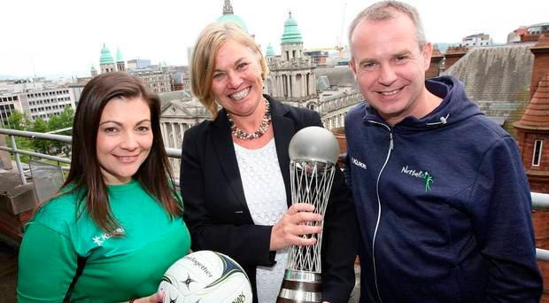 Netball NI representatives help launch the World Cup Legacy Programme