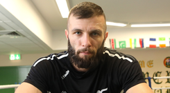 Big dreams: Belfast's Anthony Cacace (pictured) aims to win the British title and then get a crack at world champion Leo Santa Cruz