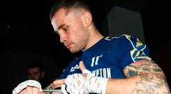 Carl Frampton has revealed that his left hand injury has been flaring up once again in training and in his routine win over Tyler McCreary.