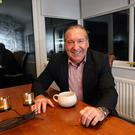 Retired footballer Alan Paterson relaxing at home in Dundonald. Credit: Peter Morrison