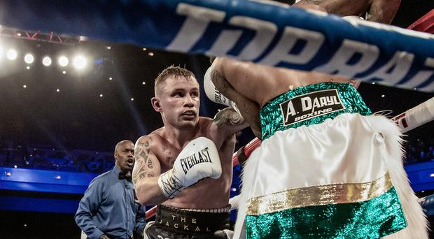 Carl Frampton suffered two injuries during his win over Tyler McCreary last weekend.