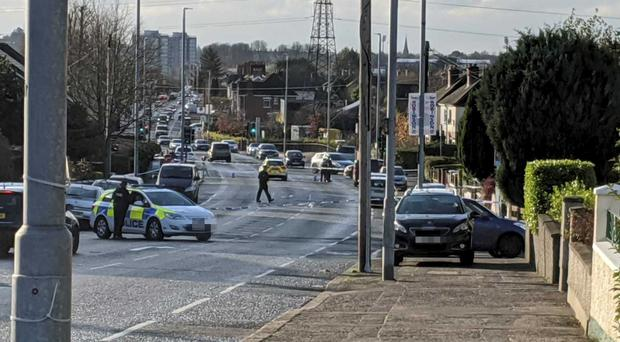 Police attended the scene at Grand Parade in east Belfast.