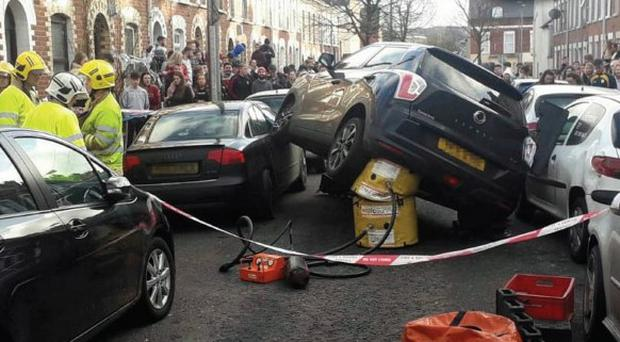 Crash in Holylands.