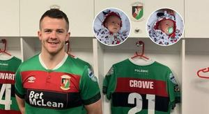 New Glentoran attacker Ciaran O'Connor says he's a changed man after the birth of his twin daughters Ava and Mia.