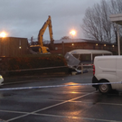A digger was used to steal a double ATM from Tesco. Credit: Paul Michael