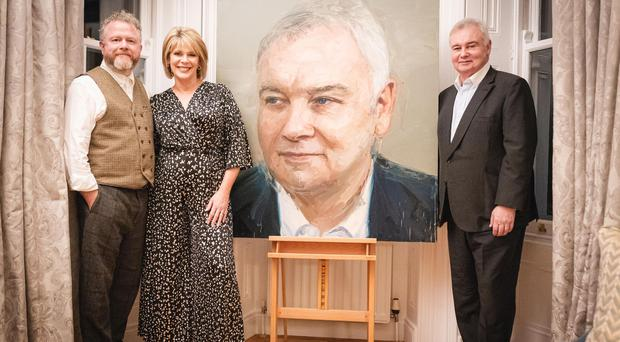 The portrait was unveiled on Saturday. Pictured are Eamonn Holmes, Ruth Langsford and artist Colin Davidson. Photo by Paul McConville for Content88