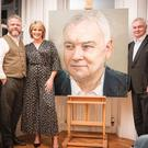 The portrait was unveiled on Saturday. Pictured are Eamonn Holmes, Ruth Langsford and artist Colin Davidson. Picture by Paul McConville for Content88