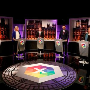 Tuesday night's BBC Northern Ireland Leaders' Debate. Credit: Presseye/PA Wire