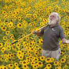 David Bellamy in the international wildflower meadow (Newcast/PA)