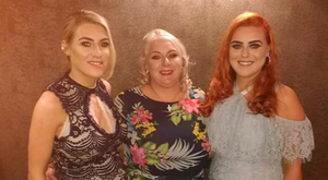 Mum Janet Bowers and daughters Lauren (left) and Taylor