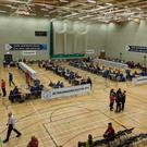 Count centre at Aurora Leisure centre, Bangor (Belfast Telegraph)
