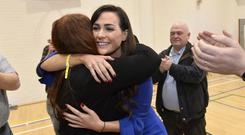 Sinn Fein's Orfhlaith Begley pictured after she won her seat back in West Tyrone Photo by Stephen Hamilton / Press Eye.