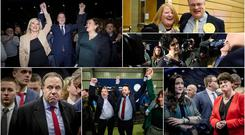 Sinn Fein's John Finucane, Alliance's Stephen Farry and the SDLP's Colum Eastwood and Claire Hanna celebrate big election wins, while DUP deputy leader Nigel Dodds and party colleague Emma Little Pengelly lose their seats