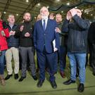 Sinn Féin Francie Molloy is returned as MP for Mid Ulster. Photo by Jonathan Porter / Press Eye.