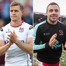 Andrew Trimble, Tommy Bowe, Jacob Stockdale and Craig Gilroy are in the running for the two wing positions.
