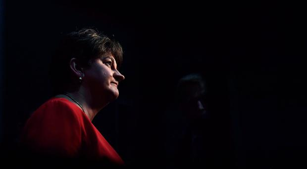 DUP leader Arlene Foster at the Belfast count centre. (Photo by Charles McQuillan/Getty Images)