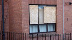 Paint has been thrown at the window of a residential premises in The Mount area of Belfast after 9pm last night. Photo Laura Davison/Pacemaker Press