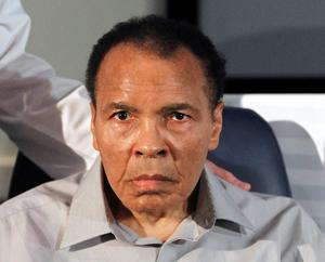 In this Feb. 22, 2012, file photo, former heavyweight boxing champion Muhammad Ali poses at St. Joseph's Hospital Barrow Neurological Institute in Phoenix. Ali, the magnificent heavyweight champion whose fast fists and irrepressible personality transcended sports and captivated the world, has died according to a statement released by his family Friday, June 3, 2016. He was 74.(AP Photo/Ross D. Franklin, File)