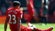 No can do: Emre Can looks deflated as Liverpool fail to win. Photo: Alex Livesey/Getty Images