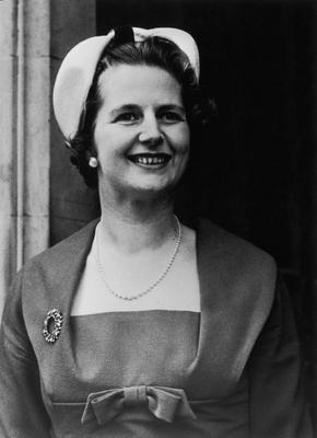 British politician Margaret Thatcher outside the House of Commons, where she is taking her seat as the Member of Parliament for Finchley, 20th October 1959. (Photo by Keystone Features/Hulton Archive/Getty Images)