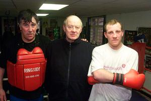 Top team: Barney Eastwood with John Breen and Eamonn Magee
