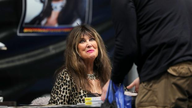 Caroline Munro who was Bond Girl Naomi from Roger Moore's  The Spy Who Loved Me and also appeared in 1967's  Casino Royale. picturted at the Showtime Comic Con at the Titanic Exhibition centre, Belfast. (Photo by Colm O'Reilly, Sunday Life)