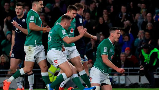 Johnny Sexton marked his first game as Ireland captain by scoring all 19 points including an early try.