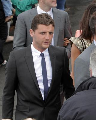 SUNDAY LIFE- News Alex Bruce at the Wedding of Manchester United footballer Jonny Evans and Man United TV reporter Helen McConnell at Clough Presbyterian Church.  Picture Colm O'Reilly Sunday Life 1-05-2013