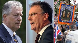 DUP leader Peter Robinson leader of the Ulster Unionist Party Mike Nesbitt