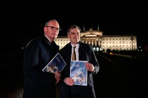 Irish Foreign Affairs minister Simon Coveney (left) and Secretary of State for Northern Ireland Julian Smith. Credit: Niall Carson/PA Wire