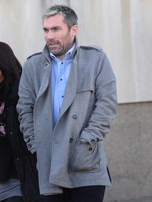 Keith Gillespie pictured outside Newtownards Courthouse earlier this year