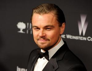 """FILE - This Jan. 12, 2014 file photo shows Leonardo DiCaprio at The Weinstein Company's Golden Globes after party in Beverly Hills, Calif. DiCaprio was nominated for an Academy Award for best actor on Thursday, Jan. 16, 2014, for his role in """"The Wolf of Wall Street."""" The 86th Academy Awards will be held on March 2. (Photo by Chris Pizzello/Invision/AP, File)"""