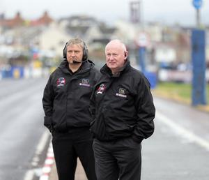 North West 200 Event Director Mervyn Whyte (right) with Stanleigh Murray, Clerk of the Course, during last year's race week.