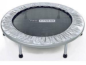 <b>Pro Fitness Trampette </b><br/> Fitness trampolines can improve heart rate and circulation, as well as lower blood pressure, through gentle aerobic training. You can use this one indoors or out and you won't strain your joints whilst you're using it.<br/> £29.95, argos.co.uk